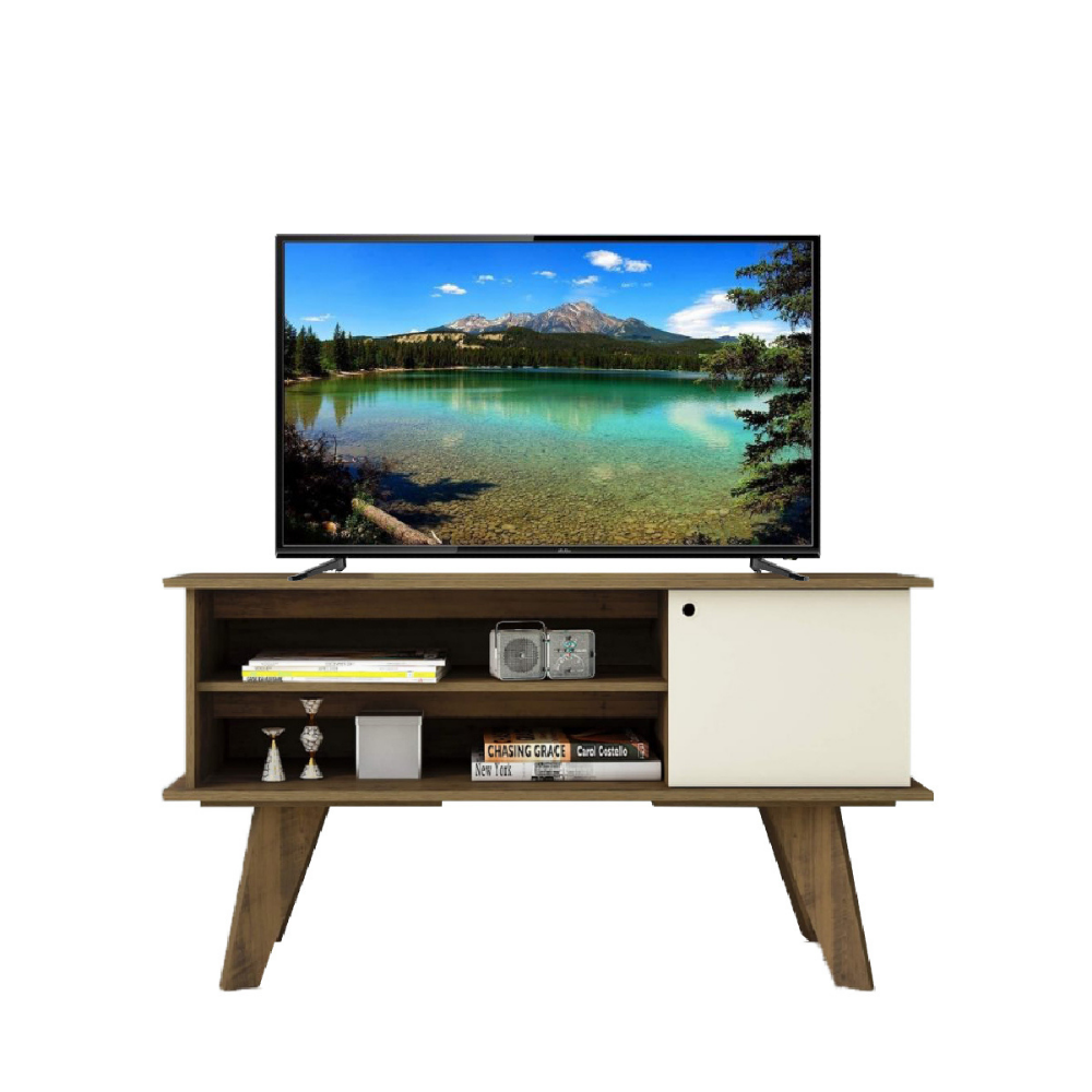 "RACK  P/ TV 50"" MOVELMAX FRANK PINO/OFF WHITE + TV SMART KOLKE 43"" FULL HD 43-SMF"