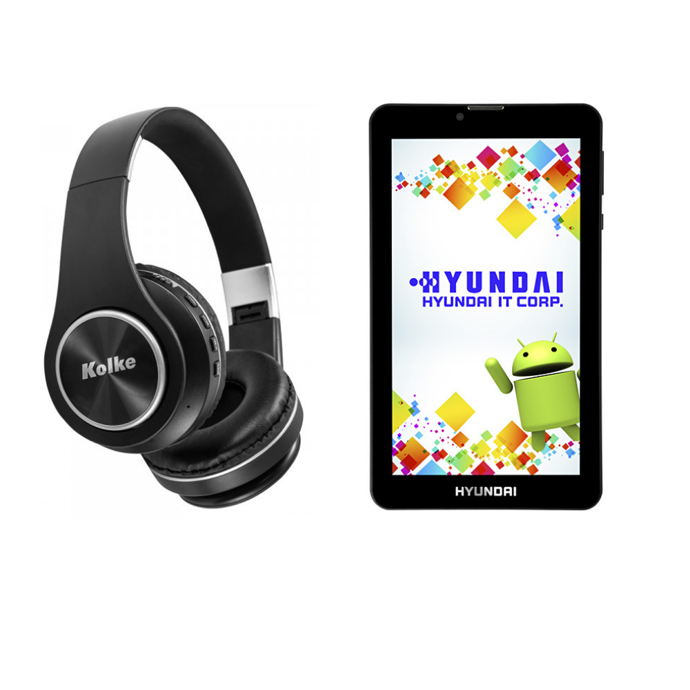 "AURICULAR KOLKE BT SHRILL KAB-451 AZ +  TABLET HYUNDAI 7"" HDT 7427 16GB DUAL CHIP"